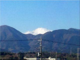 マジェールの窓から見た富士山